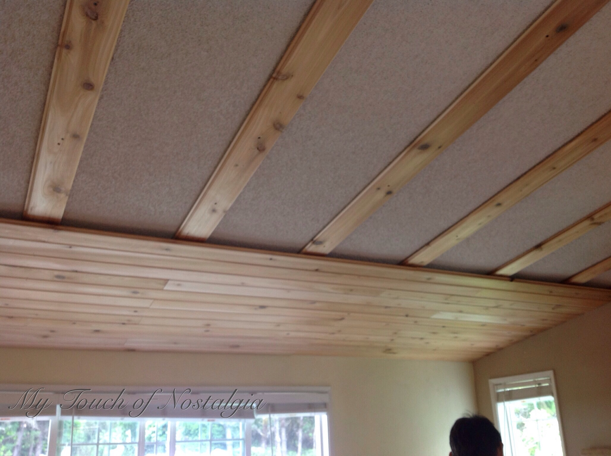 How To Hide Your Popcorn Ceiling My Touch Of Nostalgia