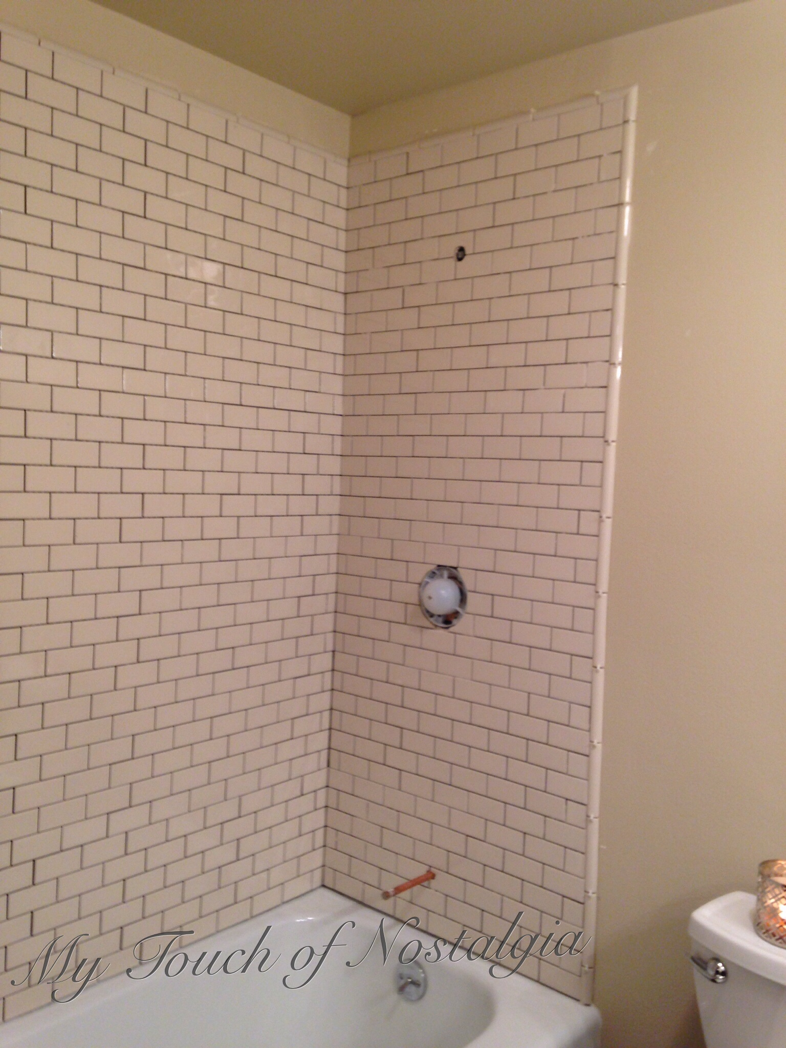 Bathroom Tile Quarter Round home improvement | my touch of nostalgia